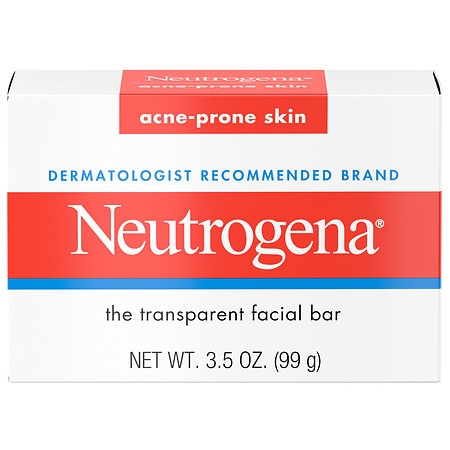 Neutrogena Transparent Facial Bar, Acne-Prone Skin Formula Soap