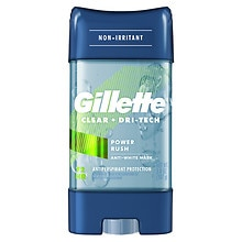 Gillette 3x Triple Protection System, Clear Gel Antiperspirant & Deodorant Power Rush