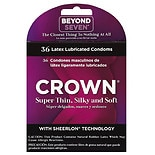 Crown Natural Rubber Latex Condoms, Lightly Lubricated