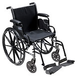 Drive Medical Cruiser III Lightweight Wheelchair w Flip Back Removable Desk Arms and Foot Rest 18 Inch