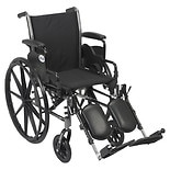 Drive Medical Cruiser III Lightweight Wheelchair w Flip Back Removable Desk Arms and Leg Rest 18 Inch