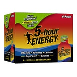 5 Hour Energy Dietary Supplement Shot 6 Pack Lemon Lime Lemon Lime