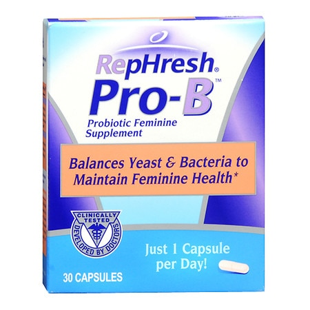 RepHresh Pro-B Probiotic Feminine Supplement Capsules