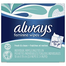 Always Wipes-to-Go Individual Wipes Lightly Scented