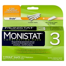 Monistat 3 Dual Action 3 Day Combination Pack Vaginal Antifungal Treatment