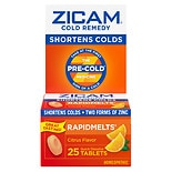 Zicam Cold Remedy Citrus Cold Remedy RapidMelts Quick Dissolve Tablets Citrus