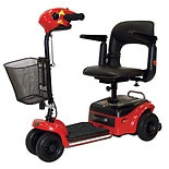 Shoprider Scootie 4-Wheel Mobility Scooter Red