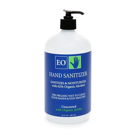 EO Hand Sanitizer Unscented with Organic Jojoba Oil