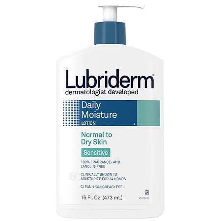 Lubriderm Daily Moisture Lotion, Normal To Dry Skin Seriously Sensitive