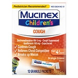 Children's Mucinex Children's Cough Mini-Melts Granule Packets Orange Creme