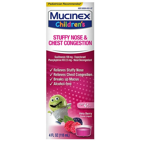 Children's Mucinex Stuffy Nose & Cold Mixed Berry