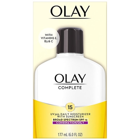 Olay Complete All Day UV Moisturizer with Vitamins E & B3, Combination/Oily