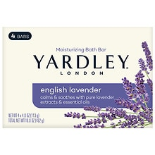 Yardley of London Savon Moisturizing Bar English lavender with Essential Oils,4.25 oz