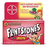 Flintstones Children's Multivitamin Supplement With Iron Chewable Tablets Orange