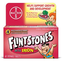 Flintstones Children's Multivitamin Supplement With Iron Chewable Tablets