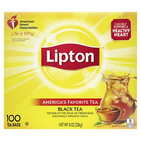 Lipton 100% Natural Tea Bags 100 Pack