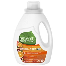 Seventh Generation Natural Liquid Laundry Detergent, 2X Concentrated, 33 Loads Fresh Citrus Breeze