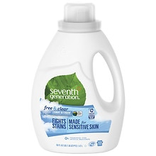 Seventh Generation Natural 2X Concentrated Liquid Laundry Detergent, 33 Loads Free & Clear