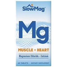 Slow-Mag Magnesium Chloride Dietary Supplement Tablets with Calcium
