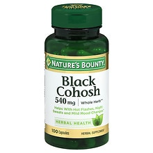 Black Cohosh 530 mg Herbal Supplement Capsules