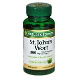 Nature's Bounty St. John's Wort Herbal Supplement Double Strength 300 mg Capsules