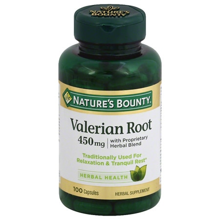 Nature's Bounty Valerian Root 450 mg Plus Calming Blend Dietary Supplement Capsules