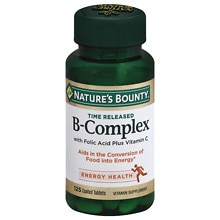 Nature's Bounty B-Complex plus Vitamin C Dietary Supplement Tablets