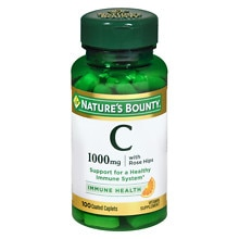 Nature's Bounty Vitamin C-1000mg Plus Rose Hips, Coated Caplets