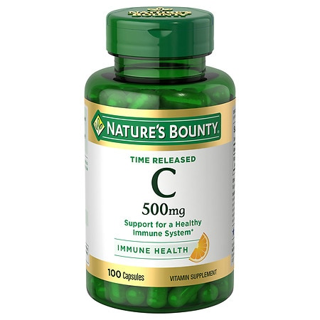 Nature's Bounty Time Release Vitamin C-500mg, Capsules