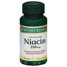 Niacin 250 mg Dietary Supplement Capsules