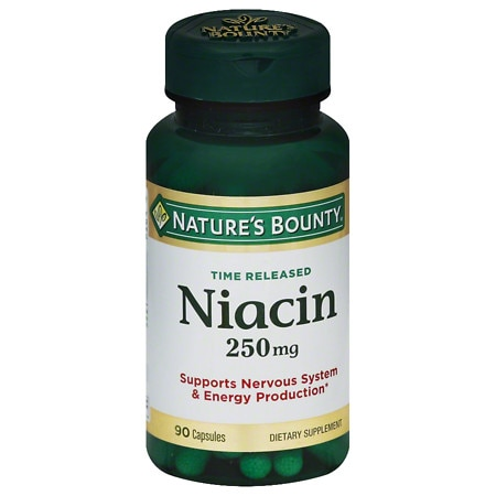Nature's Bounty Niacin 250 mg Dietary Supplement Capsules