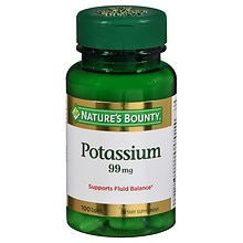 Nature's Bounty Potassium Gluconate 595mg, Caplets