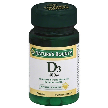 Nature's Bounty D-400 IU, Tablets