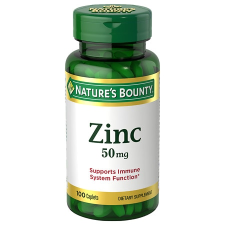 Nature's Bounty Chelated Zinc 50 mg Gluconate, Caplets