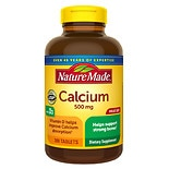 Nature Made Calcium 500 mg Dietary Supplement Tablets