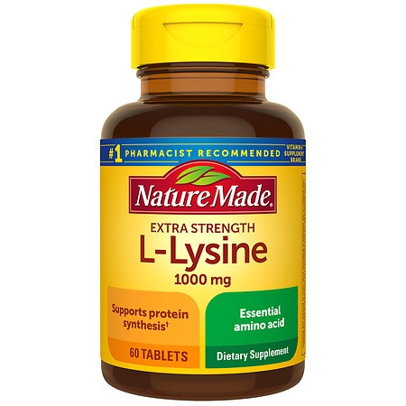 Nature Made L-Lysine 1000 mg Dietary Supplement Tablets