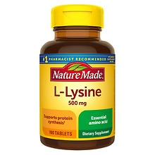 Nature Made L-Lysine 500 mg Dietary Supplement Tablets