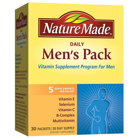 Nature Made Daily Men's Pack Vitamin Supplement Packets