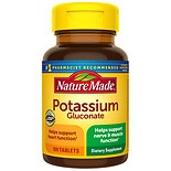 Nature Made Potassium Gluconate 550 mg Dietary Supplement Tablets