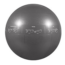 GoFit 2000lb Professional Core Stability Ball 75cm Dark Grey