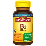 Nature Made Vitamin B-1 100 mg Dietary Supplement Tablets
