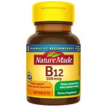 Nature Made Vitamin B-12 500 mcg Dietary Supplement Tablets