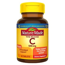 Vitamin C 500 mg Dietary Supplement Caplets