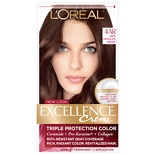 L'Oreal Paris Excellence Triple Protection Permanent Hair Color Creme Dark Chocolate Brown 4AR Cooler