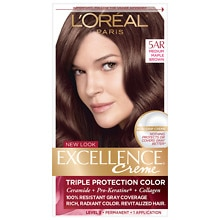 L'Oreal Paris Excellence Triple Protection Permanent Hair Color Creme Medium Maple Brown 5AR