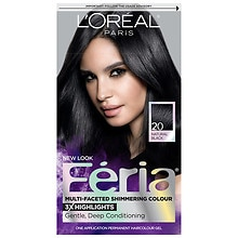 Permanent Haircolour Gel, Black Leather 20