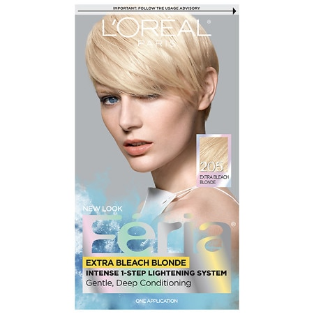 L'Oreal Paris Feria Intense 1 Step Lightening System Extra Bleach Blonde 205