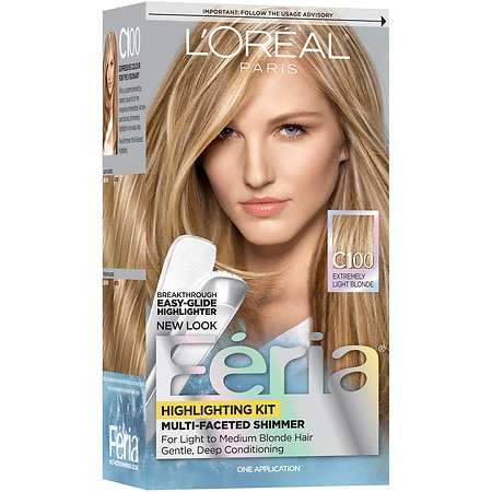 L'Oreal Paris Feria Multi-Faceted Shimmering Highlighting Kit Star Light Extremely Light Blonde C100