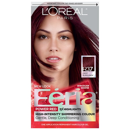 L'Oreal Paris Feria Power Reds Permanent Haircolour Gel Blowout Burgundy R37