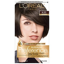 L'Oreal Paris Preference Permanent Hair Color Dark Brown 4